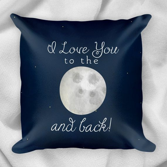I Love You To The Moon And Back  18x18 Square by ALittleLeafy
