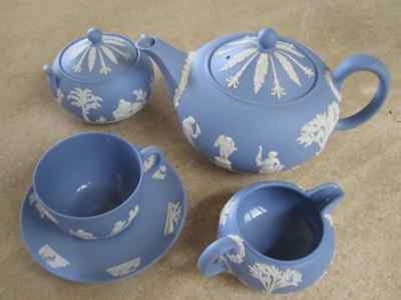 Jasper Ware was created and manufactured by Josiah Wedgewood. It has a fine grain and is unglazed.