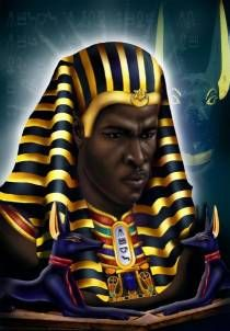 amazing painting of an ancient egyptian pharaoh ancient