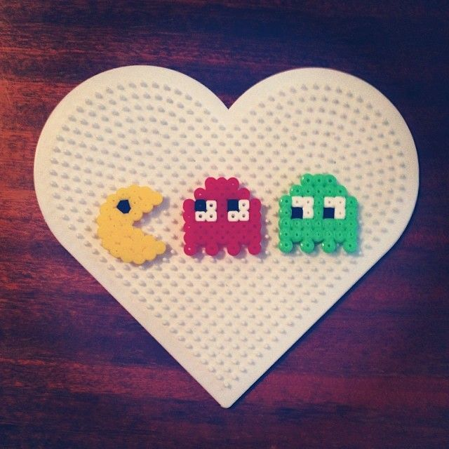 Pacman hama beads by paddywaxdesign