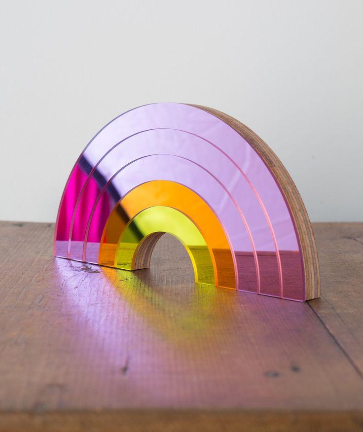 Rainbow Mirror- Pink
