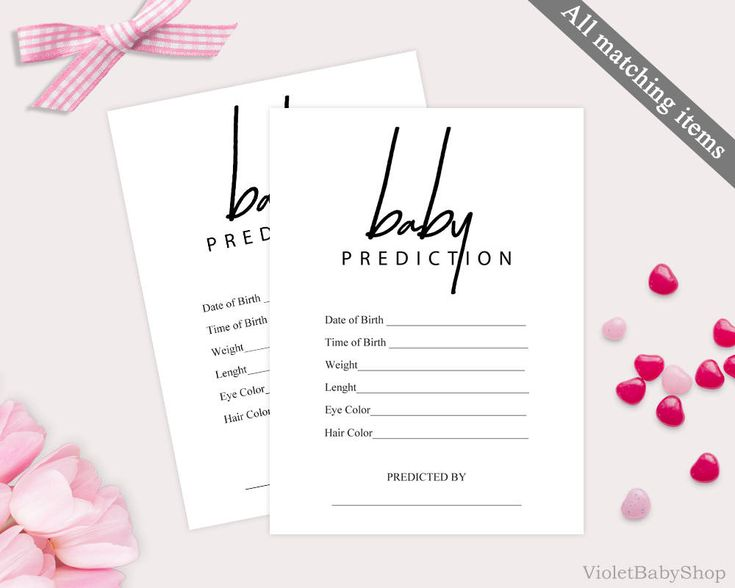 Modern Baby Prediction Game Template. Printable Baby Shower Game. Handwriten Baby Prediction. Rustic Calligraphy Elegant Black and White PDF http://etsy.me/2ExO7uW #papergoods #pink #babyshower #gold #baby #prediction #shower #game #printable