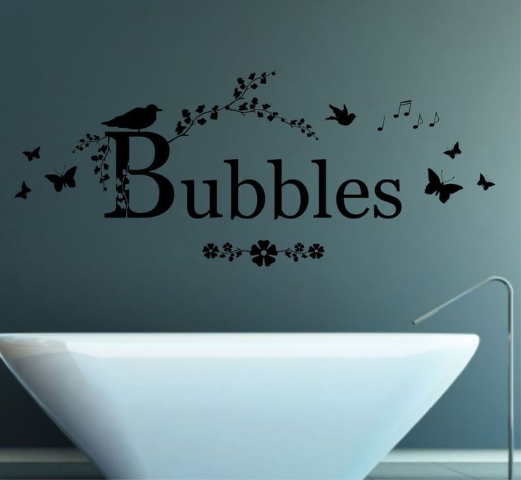 Bubbles Quote, Vinyl Wall Art Sticker, Decal Mural, Bathroom Decor Part 63