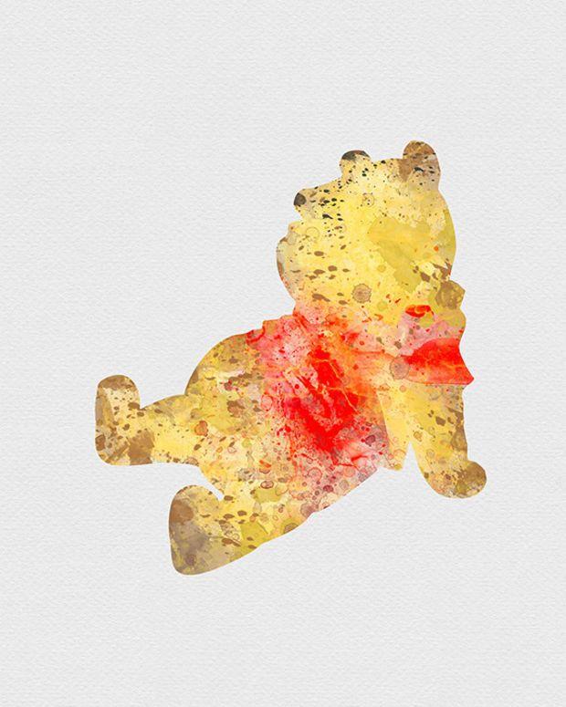 Winnie the Pooh Watercolor Art