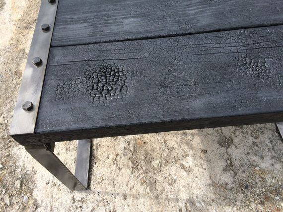 Beautiful Charred wood center table can be by MaderaYHierro
