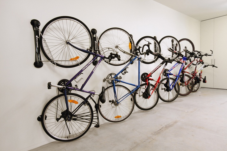 Bicycle Storage Wall Racks And Bicycles On Pinterest