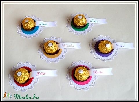 Köszönőajándék, köszönet lap, ültető kártya, név, esküvő házassági évforduló babaváró leánybúcsú keresztelő születésnap  (kreativpercek) - Meska.hu