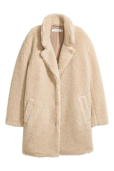 Jas Van Teddy.Korte Teddy Jas In 2019 Moda Beige Coat Teddy Coat Fake Fur