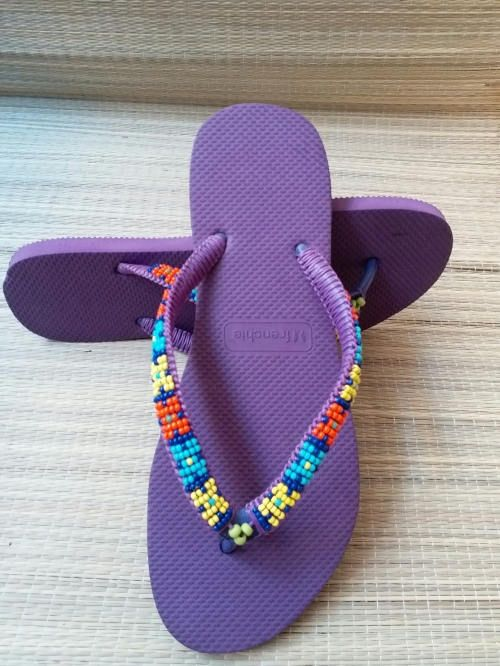 Excited to share the latest addition to my #etsy shop: Japanese bead slippers Miyuki braided http://etsy.me/2FcWqPU #clothing #shoes #women #purple #slippers #thaislippers #summershoes #spongesandals #japanesebeadsmiyuki