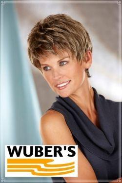 Parrucca Wuber's anche per chemioterapia capelli  in fibra parte alta lavorata a mano monofilamento modello Agatha