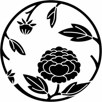 牡丹枝丸- 家紋の図鑑 9,000・家紋検索結果 -