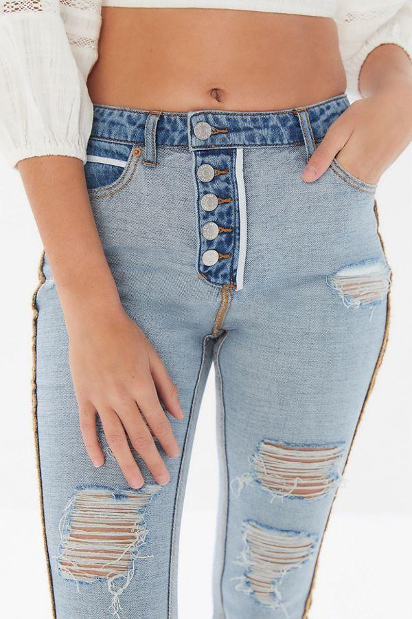 New Ladies New Look Blue Denim Jegging Skinny Jeans Trouser Plus Size 20-28