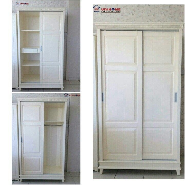 JUST ARRIVED! This is the Princess Sliding Door Wardrobe is now available.  ♥ Super spacious ♥ Smooth sliding doors it's not a wonder that this is one of the most raved about by visitors to our showroom! Width: 118 cm Depth: 60 cm Height: 210 cm