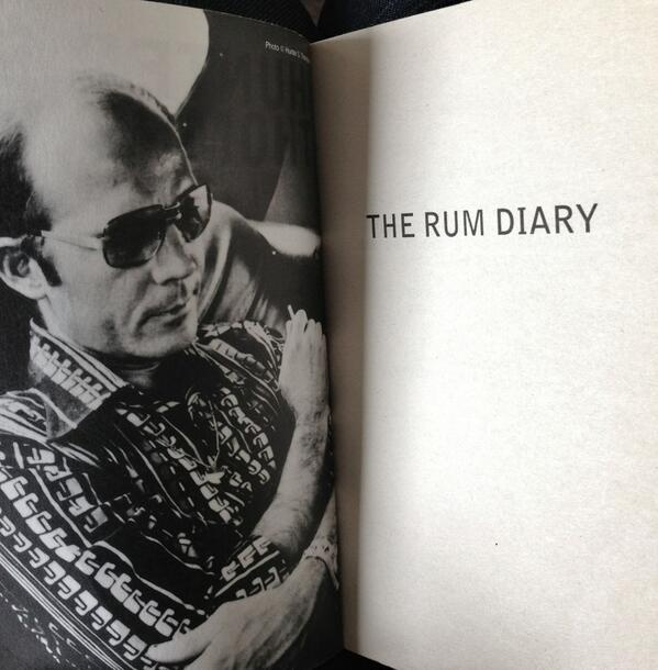 Hunter S. Thompson - a rum-related event in himself