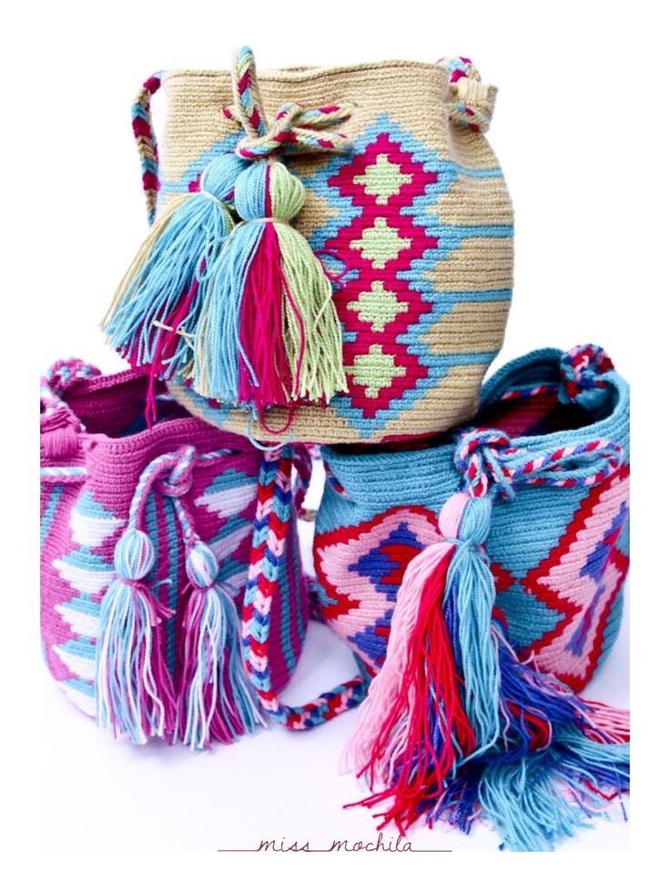 <3 Mochila Wayuu Bags @ www.BohoBeachBoutique.com