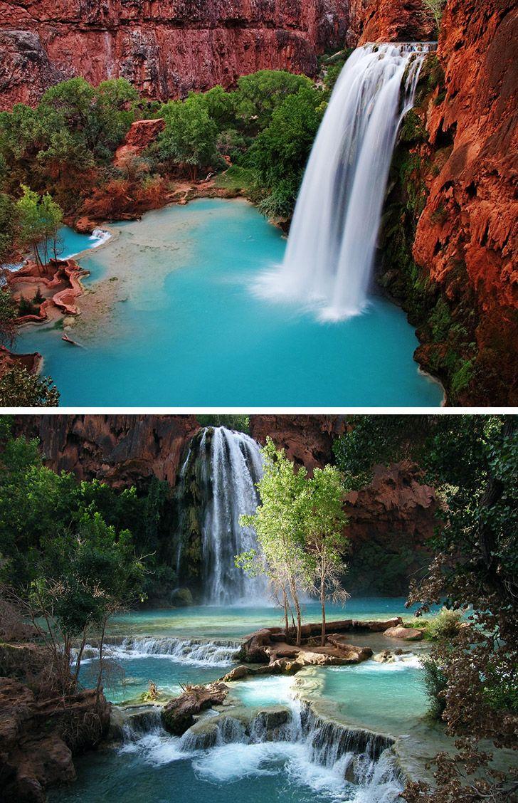 Havasu Falls in Havasupai, Grand Canyon. # Pinterest++ for iPad #
