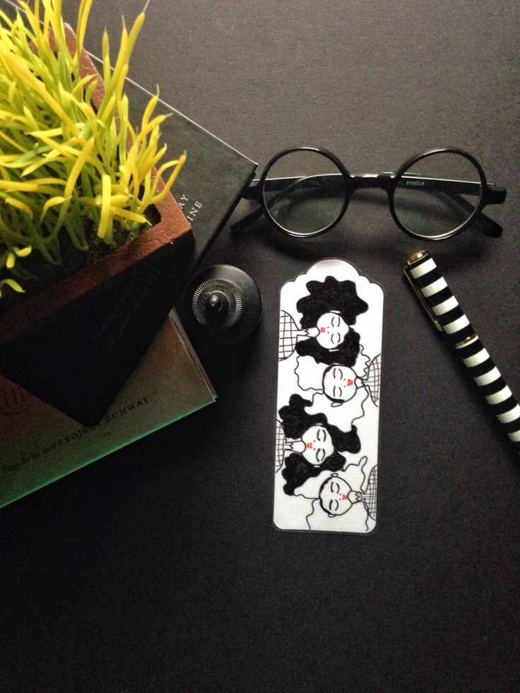 Afro art book mark, bookmarks, unique hand drawn bookmark, for booklovers, OOAK illustrates book mark.  Black and White afro read No.3 by LeMahoganyArt on Etsy