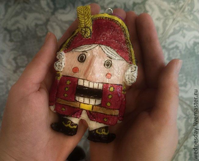 Купить Щелкунчик - ярко-красный, игрушка на елку, елочная игрушка, Новый Год, щелкунчик, сказка