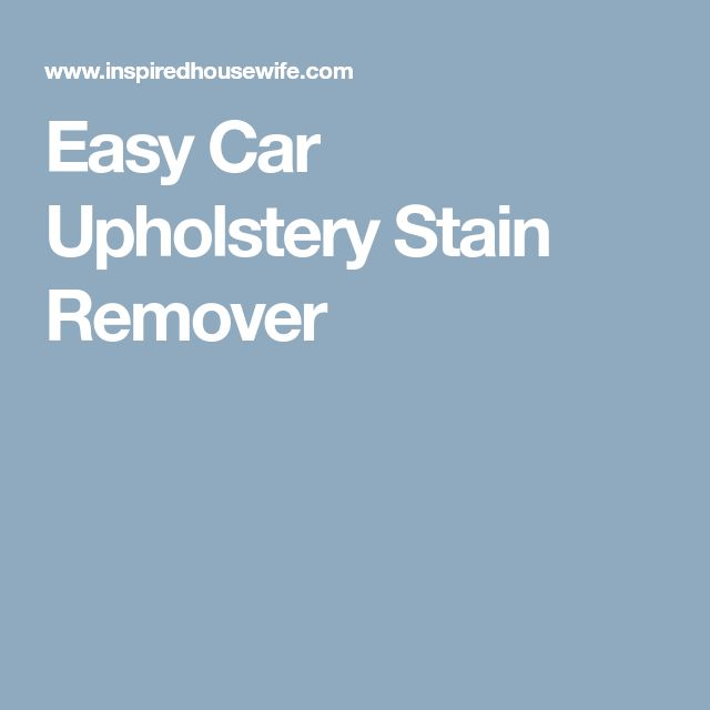 Car Seat Stain Remover Walmart