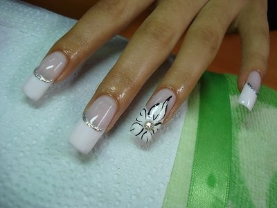 52 best Weddings- Nail Designs for the Bride images on ... - photo #33