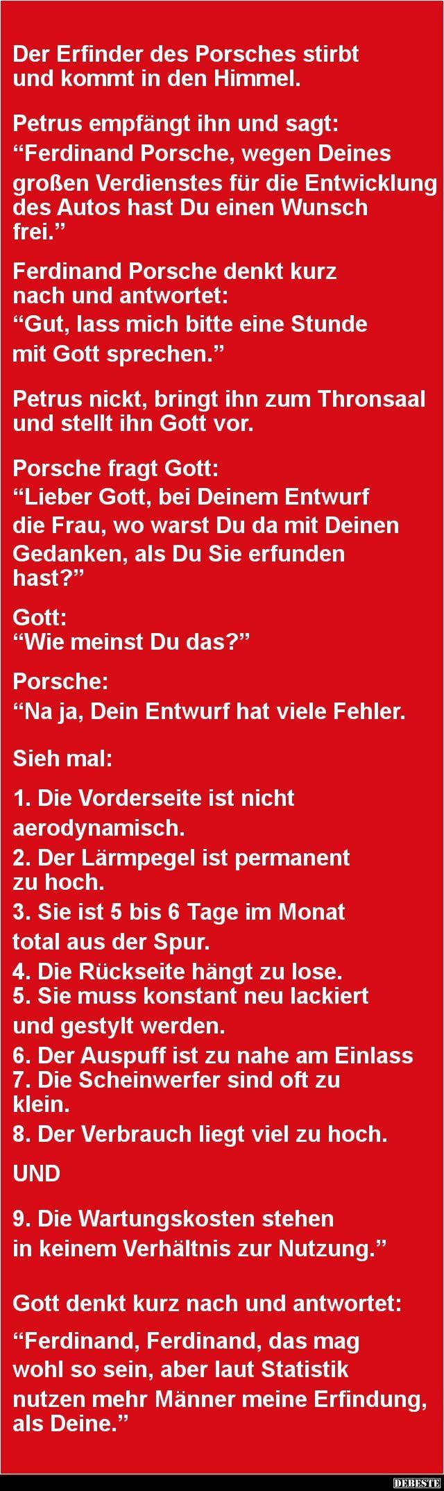 Der Erfinder des Porsches stirbt und kommt in den Himmel | DEBESTE.de, Lustige…