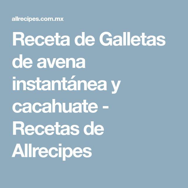 Receta de Galletas de avena instantánea y cacahuate - Recetas de Allrecipes
