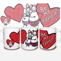 Personalised Purple Ronnie Be My Valentine Mug from Experience Frenzy