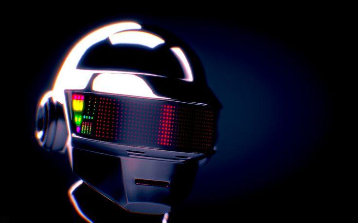 Daft Punk Thomas Bangalter Helmet, Alexander Gogolev on ArtStation at https://www.artstation.com/artwork/Bzg09