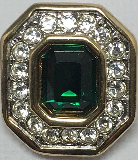S.A.L. Swarovski America, Mother Jewelry, 70s Clip Earrings, Vintage Clip Earrings, Green Earrings, Green Clip Earrings