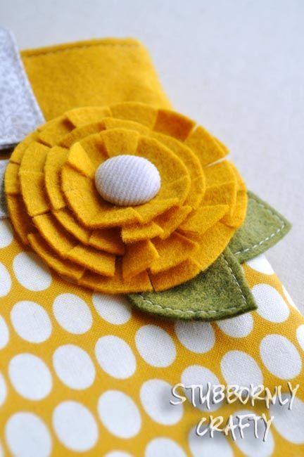 Stubbornly Crafty: felt flower tutorial