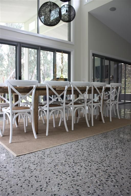 polished concrete floors exposed aggregate - Google Search
