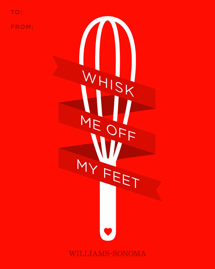 Whisk me off my feet.