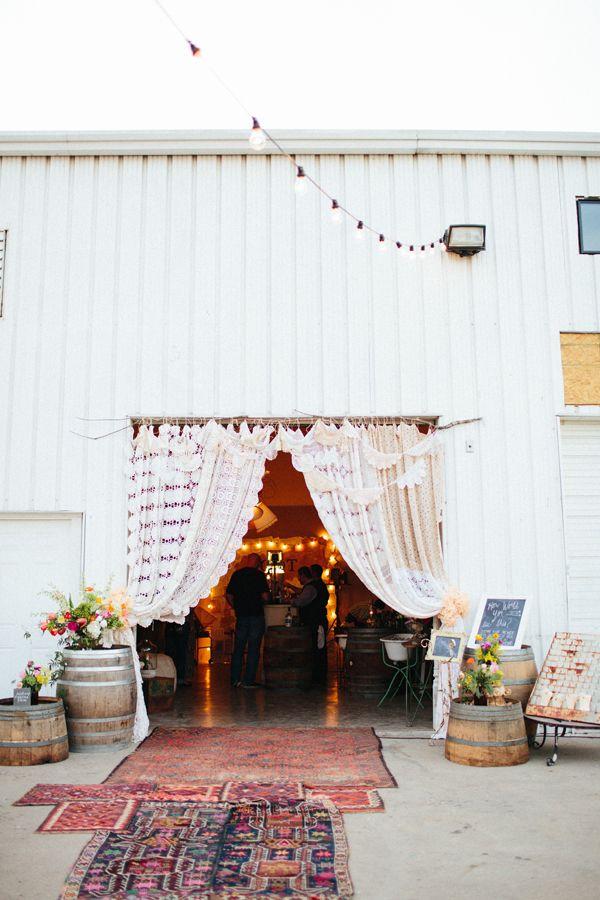 reception entryway inspo - Loot Vintage Rentals Warehouse Warming