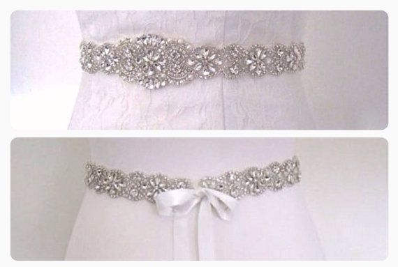 Crystal wedding belt rhinestone wedding dress belt by BridalStar
