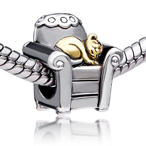 Pugster Cat And Sofa Charm Beads Fit Pandora Charm Bead Bracelet $9.99 (save $8.15)