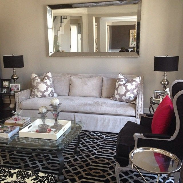 @Jennifer Dennis Incorporated Our Bukhara Pillows And Omni Mirror Into Her  Patterned Living Room.