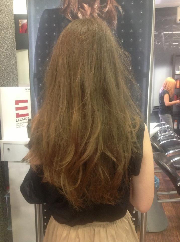 razor woman long haircut