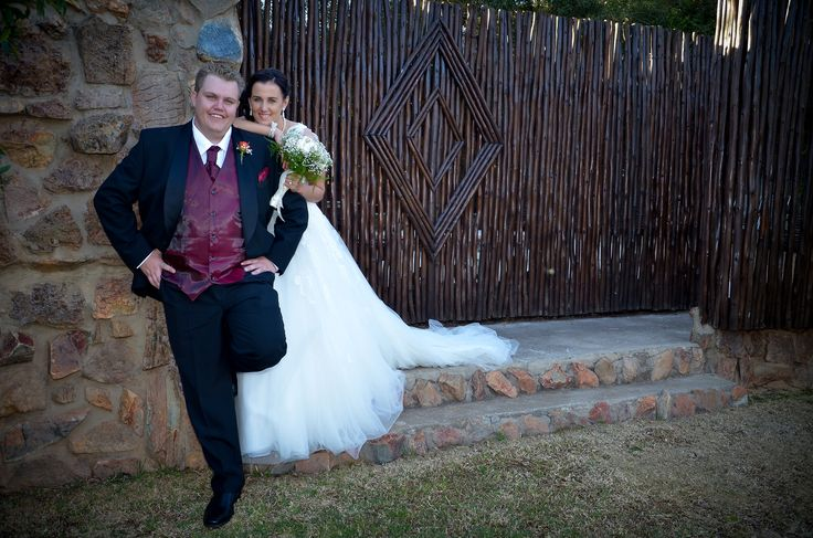 Beautiful wedding couple at Thaba Tshwene