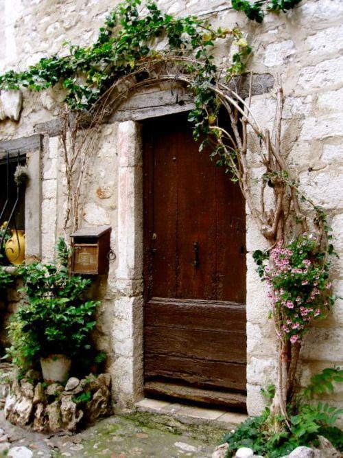 Tree arch door