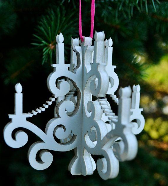 Mini Lampadario ornamento Decor di NarWall su Etsy