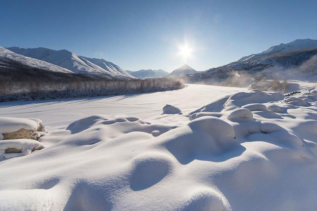 Temperature in Siberia drops to -40 degrees Celsius and in some parts it reaches even -60, for example in Oymyakon, the world's coldest permanently inhabited town. #Siberia #Oymyakon #Russia #temperature #weather #cold #winter