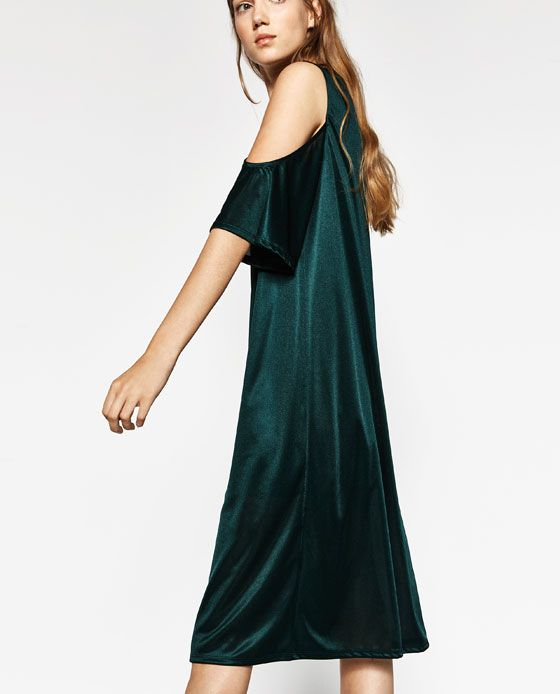 Image 4 of OFF-THE-SHOULDER DRESS from Zara