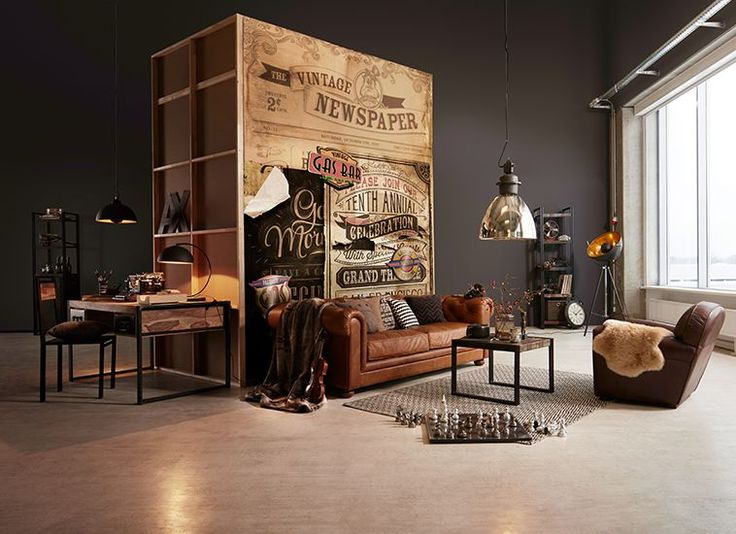 industrial living used look by m bel h ffner. Black Bedroom Furniture Sets. Home Design Ideas
