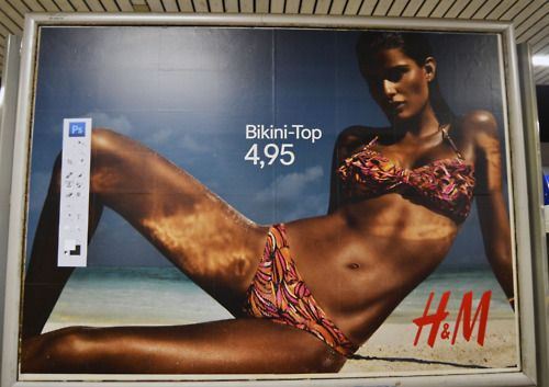 H campaign in Hamburg, Germany adbusted by Alex Bogusky.