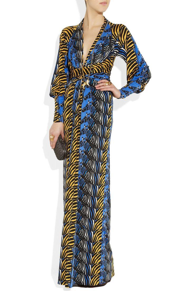 Issa Zebra Print Silk Jersey Maxi Dress Net A Porter