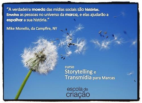 Curso Storytelling e Transmídia na ESPM Porto Alegre. Início das aulas: 25 de maio 2013. Ainda dá tempo!