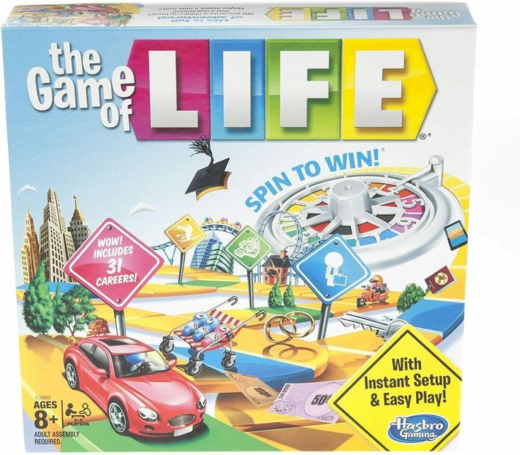 The Game of Life Family Board Game by Hasbro NEW FREE