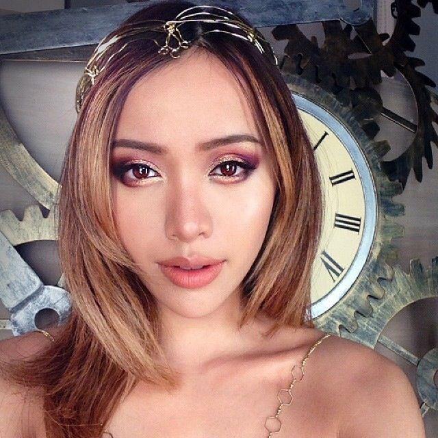 @Michelle Phan golden bronze eye makeup