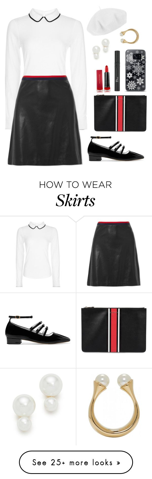 """Untitled #2450"" by ebramos on Polyvore featuring Hobbs, Gucci, Betmar, Kate Spade, AlexaChung, Givenchy, Max Factor, Christian Dior, Samsung and Chloé"