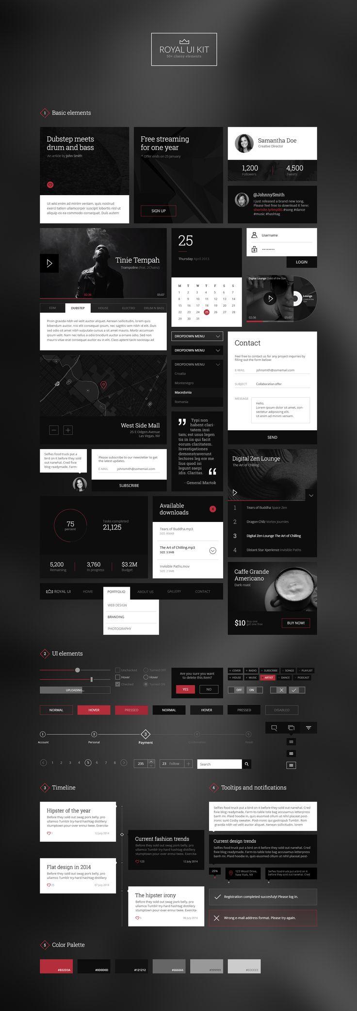 Royal UI Kit | #uikit #webdesign #ui